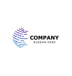 3d globe logo design symbol icon vector