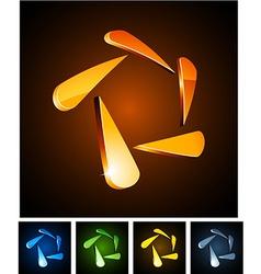 3d star emblems vector