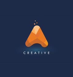 A letter with origami triangles logo creative vector
