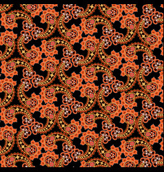 abstract floral seamless pattern oriental asian vector image