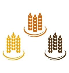 Abstract wheat ears vector