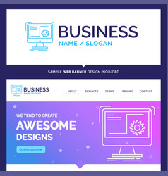 Beautiful business concept brand name command vector