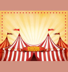Big top circus background with banner vector