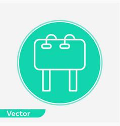 billboard icon sign symbol vector image