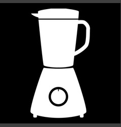 Blender the white color icon vector