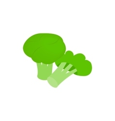 Broccoli icon isometric 3d style vector image