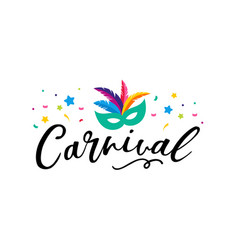 Carnival poster with colorful party elements vector