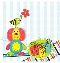 Children scrapbook birthday card vector