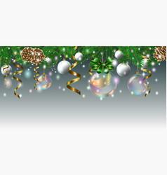 christmas balls2 vector image
