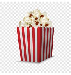 Cinema popcorn box mockup realistic style vector