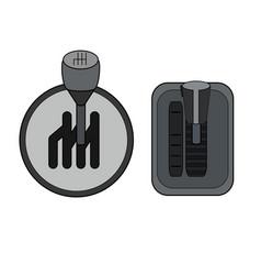Contour color set different gearboxes manual vector