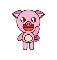 cute pig toy kawaii image vector image