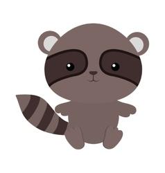 cute raccoon isolated icon vector image