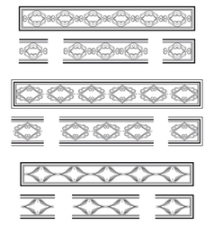 Decorative bands vector image
