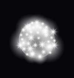 Disco ball abstract with bright light rays vector