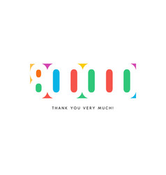 eight hundred thousand subscribers baner colorful vector image