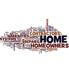 Eliminate the woes of surprise home repairs text vector