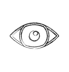 Eye looking symbol vector