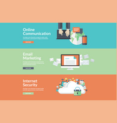 flat design concepts for internet services vector image