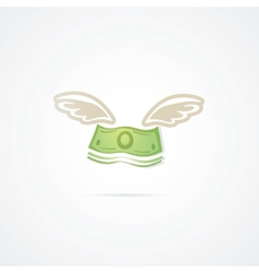 Flying Dollar vector image
