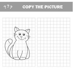 funny little kitten coloring book educational vector image