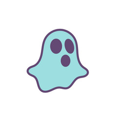 ghost magic logo icon design vector image