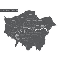 Greater london administrative map vector