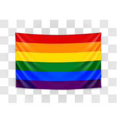 hanging flag lgbt tolerance concept vector image