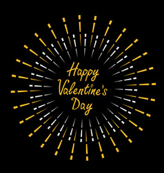 happy valentines day festive fireworks decoration vector image