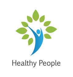 Healthy people logo vector