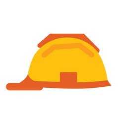 helmet workman isolated icon plastic hat vector image