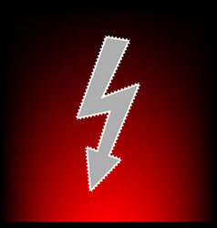 high voltage danger vector image