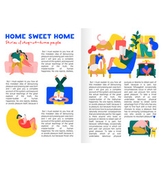 home rest infographics vector image