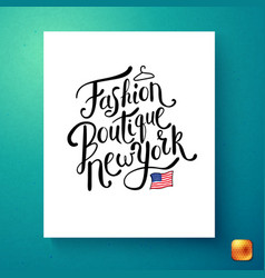 image of fashion boutique new york postcard vector image