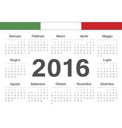 Italian circle calendar 2016 vector