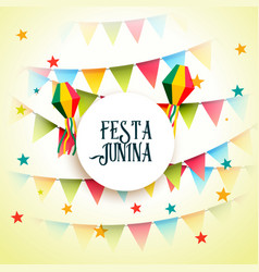 June party festa junina celebration greeting vector