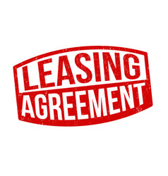 leasing agreement sign or stamp vector image