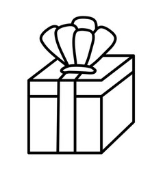 line present gift box with crown accessory vector image
