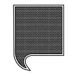 Monochrome silhouette with square speech with mesh vector