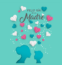 Mother day spanish card for family holiday love vector