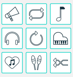 Multimedia icons set includes icons such as vector