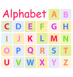 multycolored alphabet with 26 capital letters icon vector image