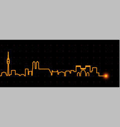 munich light streak skyline vector image