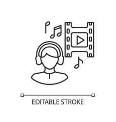Music supervisor linear icon vector