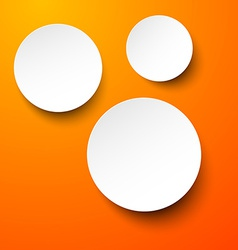 Paper white circles vector image