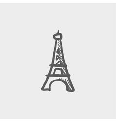 Paris tower sketch icon vector