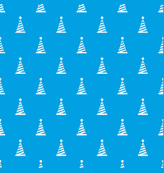 party hat pattern seamless blue vector image