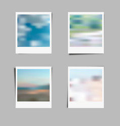 photo frame background with blur effect vector image vector image