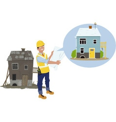 Remodeling project vector image