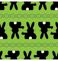 seamless - Easter bunny background vector image